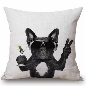 HOST PICK  New French Bulldog Pillow Case couch